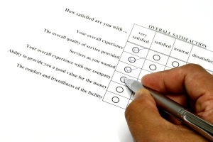 How satisfied are you survey writing tick very satisfied